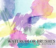フォトショップ ブラシ Photoshop Brush 無料 イラスト 水彩 インク ペンキ Watercolor Brushes