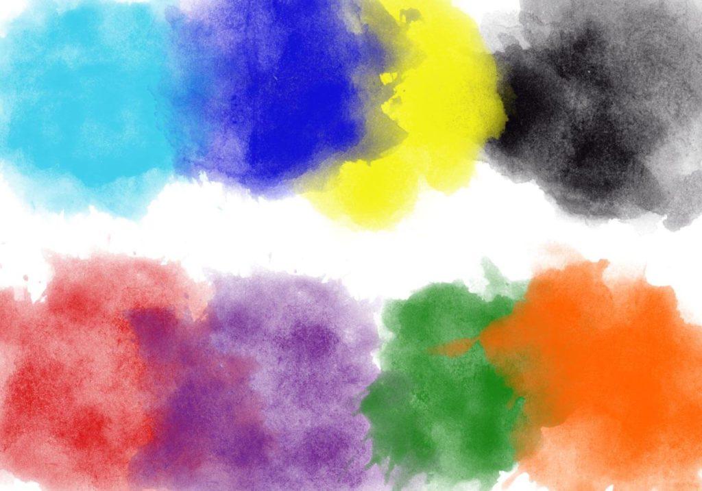 フォトショップ ブラシ Photoshop Brush 無料 イラスト インク ペンキ Wet Grungy Brushes