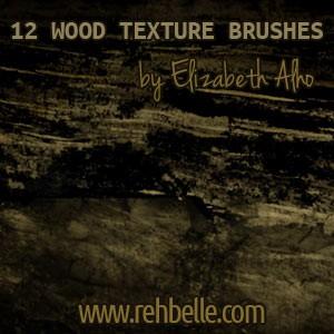 フォトショップ ブラシ Photoshop Brush 無料 イラスト 木 ウッド 木目 Wood Textures Brushes