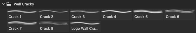 フォトショップ ブラシ Photoshop Brush 無料 イラスト クラック ひび割れ ヒビ 亀裂 壁 Wall Cracks