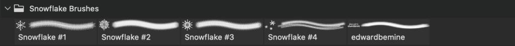 フォトショップ ブラシ Photoshop Brush 無料 イラスト クリスマス 聖夜 冬 雪 スノーフレーク 結晶 101 Snowflake Brushes