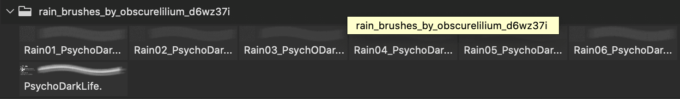 フォトショップ ブラシ Photoshop Brush 無料 イラスト RAIN レイン 雨  Rain Brushes