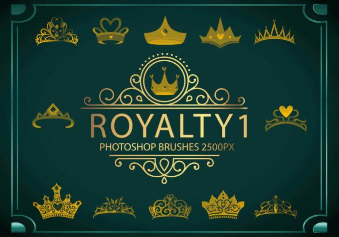 フォトショップ ブラシ Photoshop Crown Brush 無料 イラスト クラウン 冠 王冠 Royalty Photoshop Brushes1