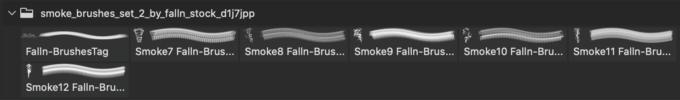 フォトショップ ブラシ 無料 煙 スモーク Smoke Brushes Set 2