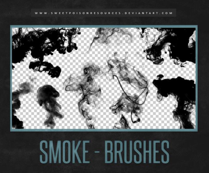 フォトショップ ブラシ Photoshop Brush 無料 煙 スモーク イラスト Smoke Brushes | Photoshop