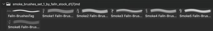 フォトショップ ブラシ 無料 煙 スモーク Smoke Brushes Set 1