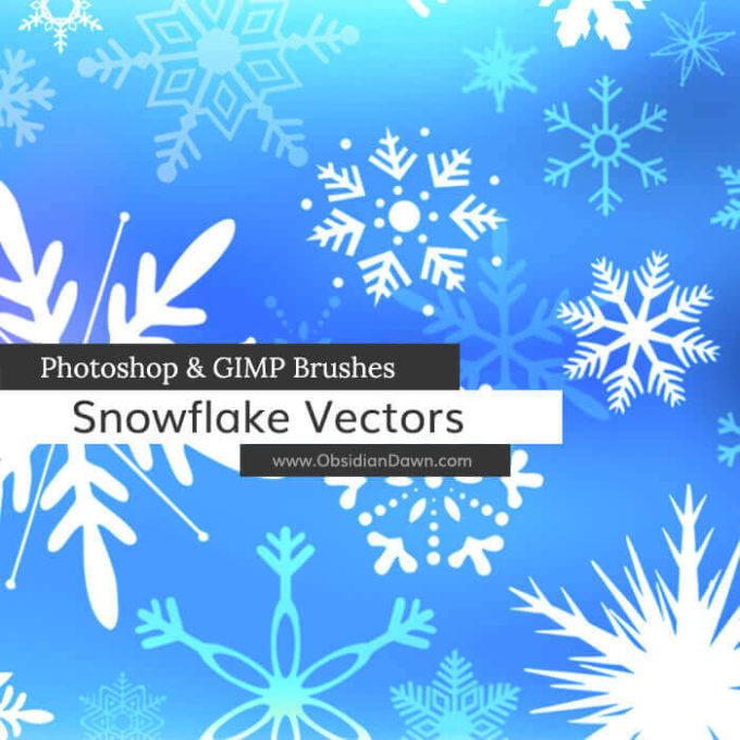 フォトショップ ブラシ Photoshop Brush 無料 イラスト クリスマス 聖夜 冬 雪 スノーフレーク 結晶 Snowflake Vectors Photoshop and GIMP Brushes