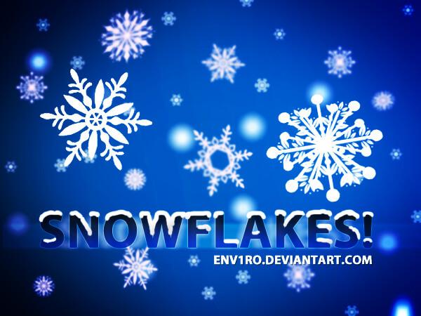 フォトショップ ブラシ Photoshop Brush 無料 イラスト クリスマス 聖夜 冬 雪 スノーフレーク 結晶 Snowflakes Photoshop Brushes