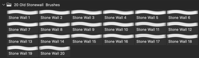 フォトショップ ブラシ Photoshop Brush 無料 イラスト ロック 岩 石 ストーン Stone Wall PS Brushes