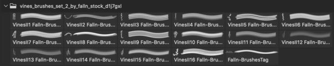 フォトショップ ブラシ 無料 木 ぶどうの木 Vines Brushes Set 2