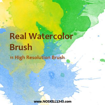 フォトショップ ブラシ Photoshop Brush 無料 イラスト 水彩 インク ペンキ Watercolor - Photoshop Brushes
