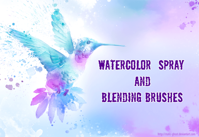 フォトショップ ブラシ Photoshop Brush 無料 イラスト 水彩 インク ペンキ Watercolor brushes for creative arts