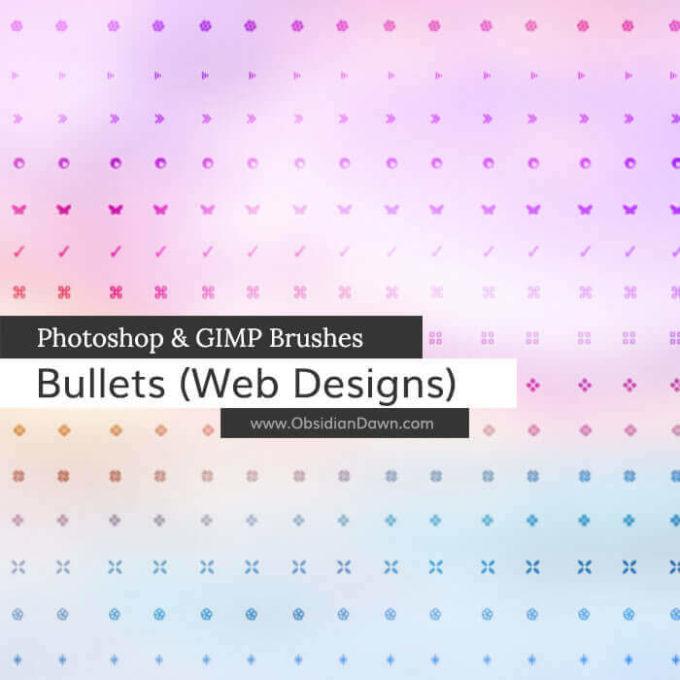 フォトショップ ブラシ Photoshop Pattern Brush 無料 イラスト 模様 パターン Web Bullets Photoshop and GIMP Brushes