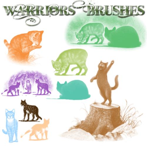 フォトショップ ブラシ Photoshop cat Kittie Brush 無料 イラスト 猫 キャット xx Warrior Brushes 1