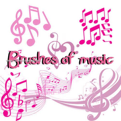 フォトショップ ブラシ Photoshop Music Note Brush 無料 イラスト 音楽  音符 楽譜 譜面 Musical Notes Pack