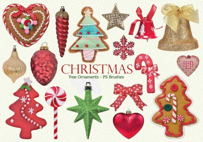 フォトショップ ブラシ 無料 クリスマス オーナメント 飾り 無料 Photoshop Christmas Ornament Brush Free abr 20 Christmas Tree Ornaments PS Brushes Abr. Vol.16