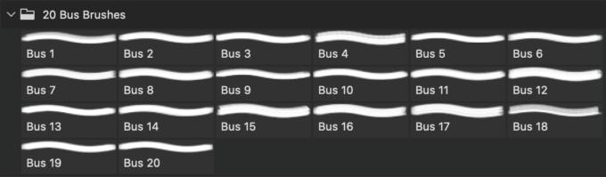 フォトショップ ブラシ Photoshop Car Brush 無料 イラスト 車 カー マインクラフト ピクセル 20 London Bus Ps Brushes Abr. Vol.8