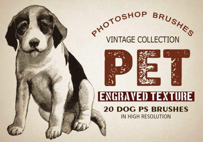 """フォトショップ ブラシ Photoshop Dog Brush 無料 イラスト ドッグ 犬 20 Pet """"Dogs"""" PS Brushes"""