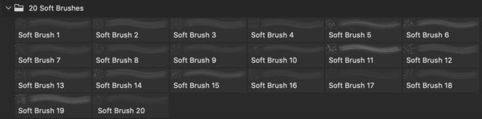 Photoshop Bokeh Brush フォトショップ ブラシ 無料 ボケ 玉ボケ 20 Soft PS Brushes Abr. Vol.9