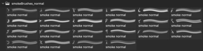 フォトショップ ブラシ Photoshop Brush 無料 イラスト 煙 スモーク 22 Normal Smoke Brushes
