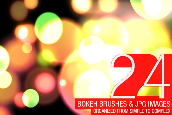 Photoshop Bokeh Brush フォトショップ ブラシ 無料 ボケ 玉ボケ 24 Abstract Bokeh Brushes
