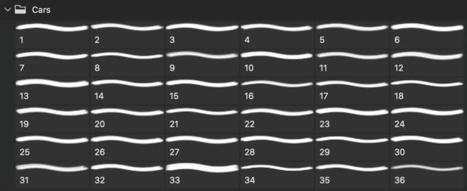 フォトショップ ブラシ Photoshop Car Brush 無料 イラスト 車 カー  36 Cars PS Brushes