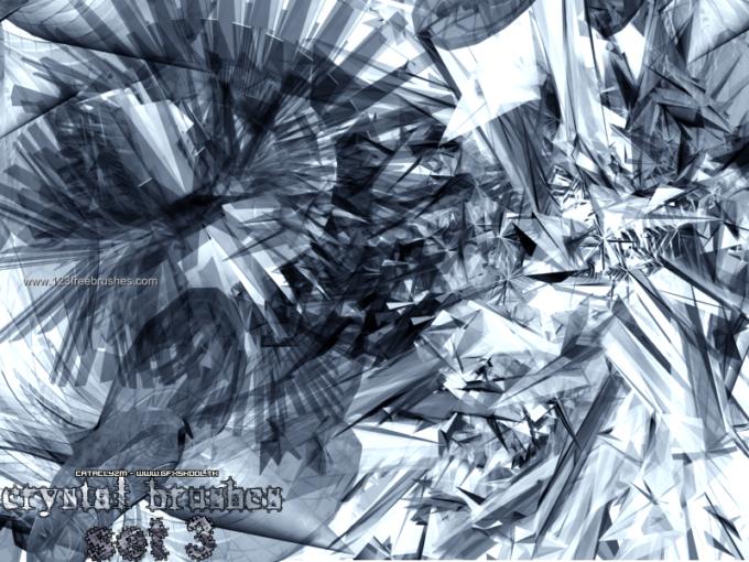 フォトショップ ブラシ Photoshop Crystal Brush 無料 イラスト クリスタル Abstract Crystal