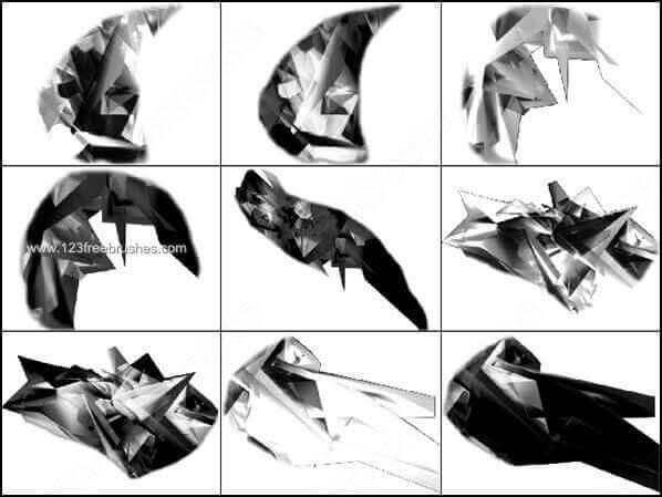 フォトショップ ブラシ Photoshop Crystal Brush 無料 イラスト クリスタル Crystal Photoshop CS Brush Set