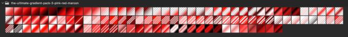 Adobe CC Photoshop Gradation Preset フォトショップ グラデーション プリセット 無料 素材 セット .grd レッド