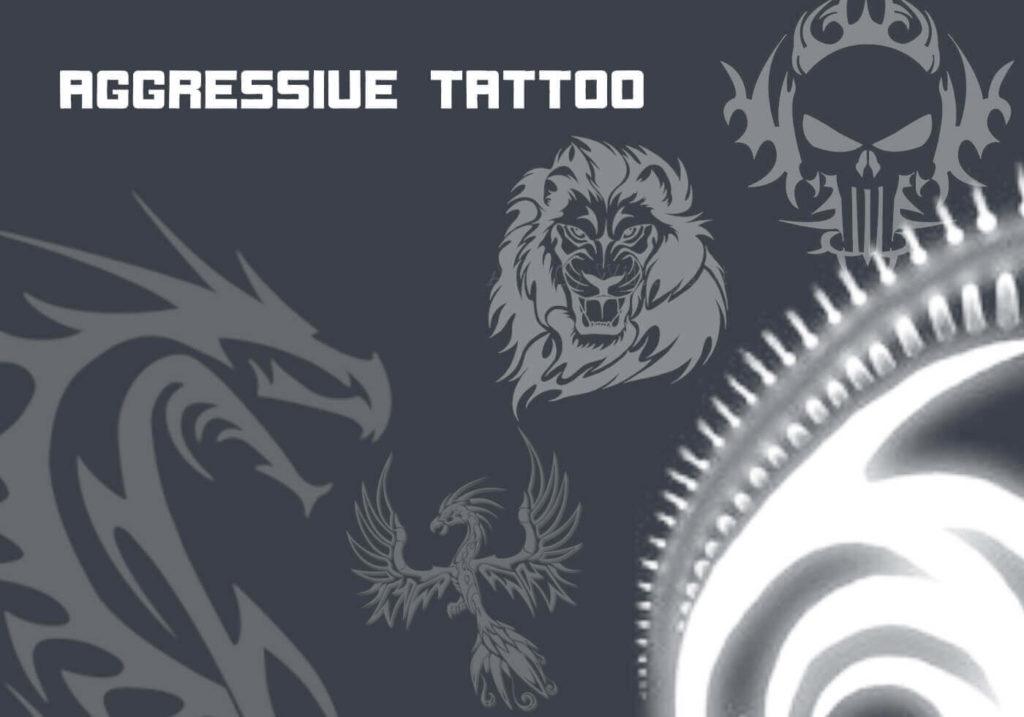 フォトショップ ブラシ Photoshop Tattoo Brush Free abr 無料 イラスト タトゥー 模様 柄 刺青 Aggressive Tattoo