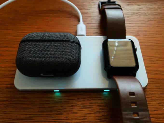 卓上ワイヤレス充電器 Aouevyo Air pods pro Apple Watch