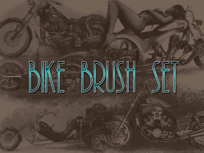 フォトショップ ブラシ Photoshop Bike Brush 無料 イラスト バイク Bike