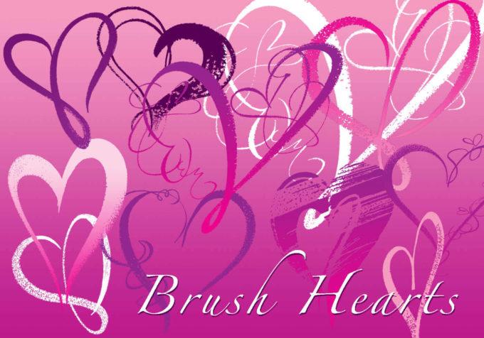 フォトショップ ブラシ 無料 ハート Photoshop Heart Brush Free abr Brush Hearts