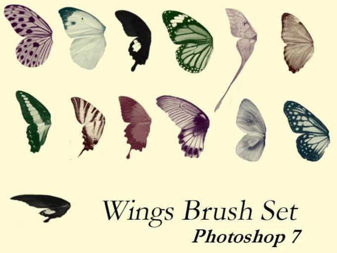 フォトショップ ブラシ Photoshop Butterfly Brush 無料 イラスト 蝶 Butter Wings Brush Set - PS7
