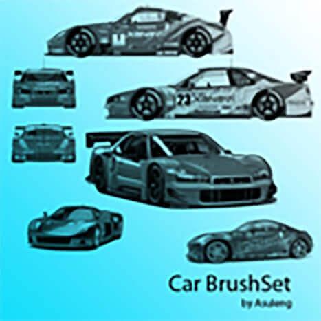 フォトショップ ブラシ Photoshop Car Brush 無料 イラスト 車 カー Car BrushSet