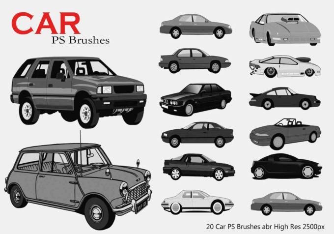 フォトショップ ブラシ Photoshop Car Brush 無料 イラスト 車 カー Car PS Brushes Abr
