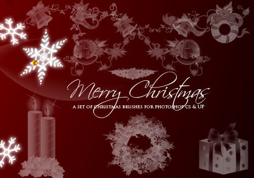 フォトショップ ブラシ 無料 クリスマス Photoshop Christmas Brush Free abr 15 Elegant Christmas Photoshop Brushes: Exclusive Freebies