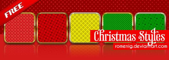 Photoshop Christmas Layer Style フォトショップ クリスマス レイヤースタイル Christmas Layer Styles