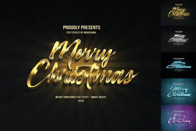 Photoshop Christmas Text Effect Xmas フォトショップ クリスマス テキストエフェクト Christmas Text Effects 22809260