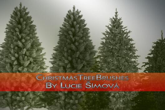 フォトショップ ブラシ 無料 クリスマス  クリスマスツリー Photoshop Christmas Tree Brush Free abr ChristmasTreeBrushes