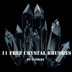 フォトショップ ブラシ Photoshop Glass  Crystal Brush 無料 イラスト ガラス クリスタル Crystal Brushes