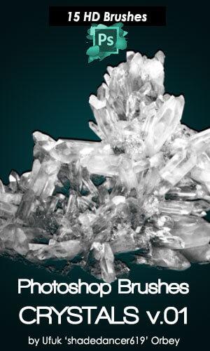 フォトショップ ブラシ Photoshop Glass  Crystal Brush 無料 イラスト ガラス クリスタル Crystals Photoshop Brushes