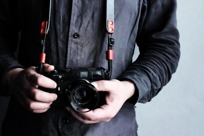 卉奏 キソウ カメラストラップ acru アクリュ 革 かっこいい カラー ブラック レッド
