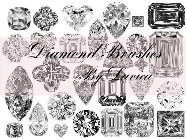 フォトショップ ブラシ Photoshop Jewelry Brush 無料 イラスト 宝石 ダイヤ ダイヤモンド Diamond Photoshop Brushes