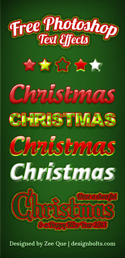 Photoshop Christmas Layer Style フォトショップ クリスマス レイヤースタイル 5 Free Beautiful Christmas Photoshop
