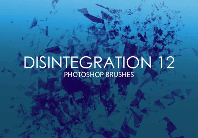 フォトショップ ブラシ Photoshop Glass  Crystal Brush 無料 イラスト ガラス クリスタル Free Disintegration Photoshop Brushes 12