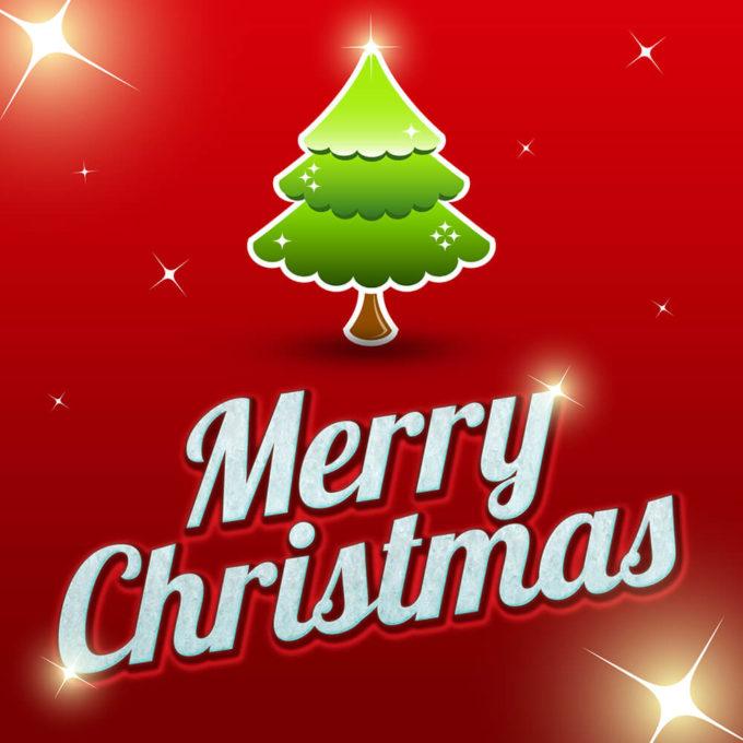 Photoshop Christmas Text Effect Xmas フォトショップ クリスマス テキストエフェクト Free Merry Christmas Text Effect 2014