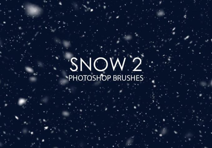 フォトショップ ブラシ Photoshop Snow Brush 無料 イラスト 雪 スノー  Free Snow Photoshop Brushes 2