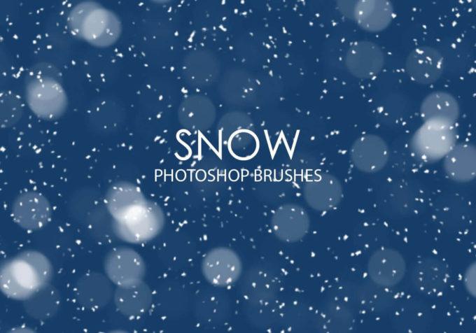 フォトショップ ブラシ Photoshop Snow Brush 無料 イラスト 雪 スノー  Free Snow Photoshop Brushes