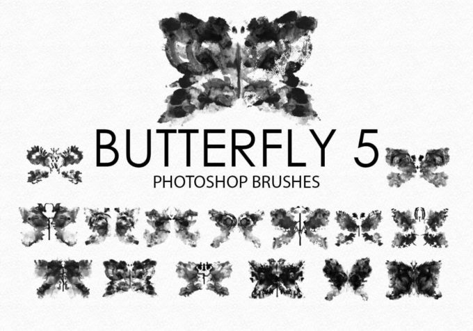 フォトショップ ブラシ Photoshop Butterfly Brush 無料 イラスト 蝶 Free Watercolor Butterfly Photoshop Brushes 5